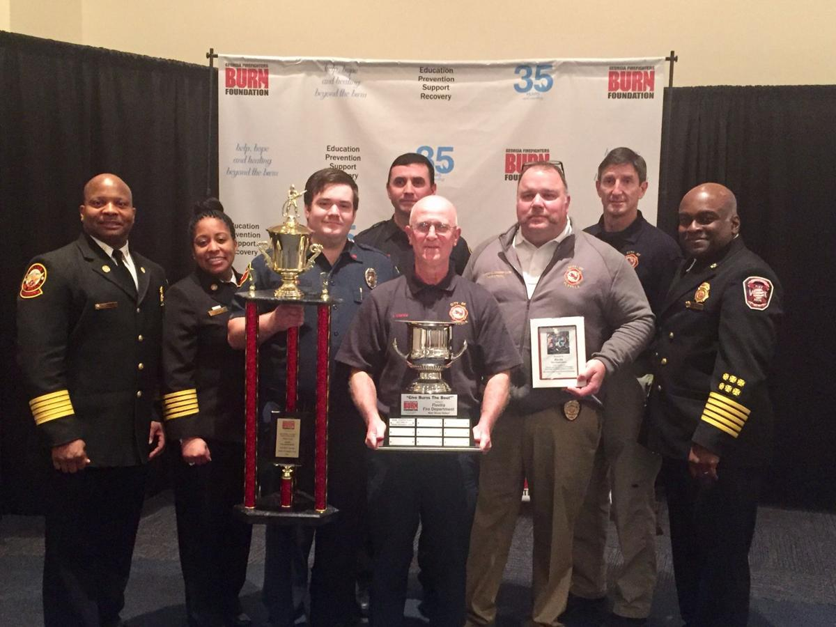 Flovilla Fire Department honor by burn foundation