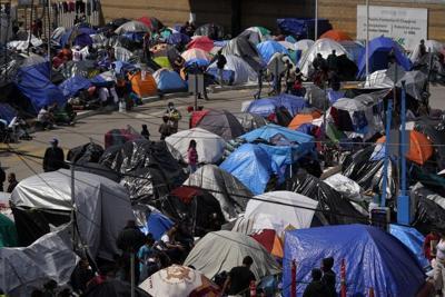 Campamento de migrantes el Chaparral