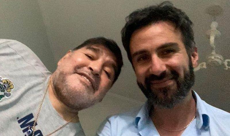 Médico Leopoldo Luque con Diego Maradona