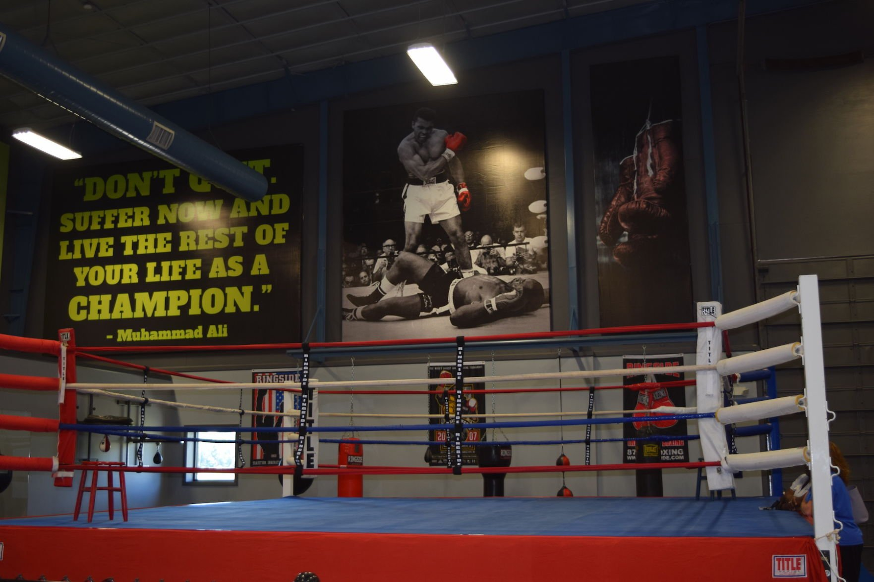 The New Boxing Ring U2014 Donated From Storage Of The Junction City Boys And  Girls Club U2014 Is Just One Element Of The New Athletic Training Center, ...