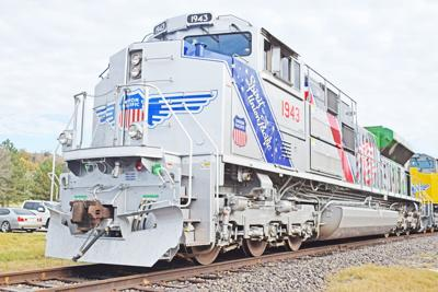 commemorative locomotive stops off at fort riley for ceremony