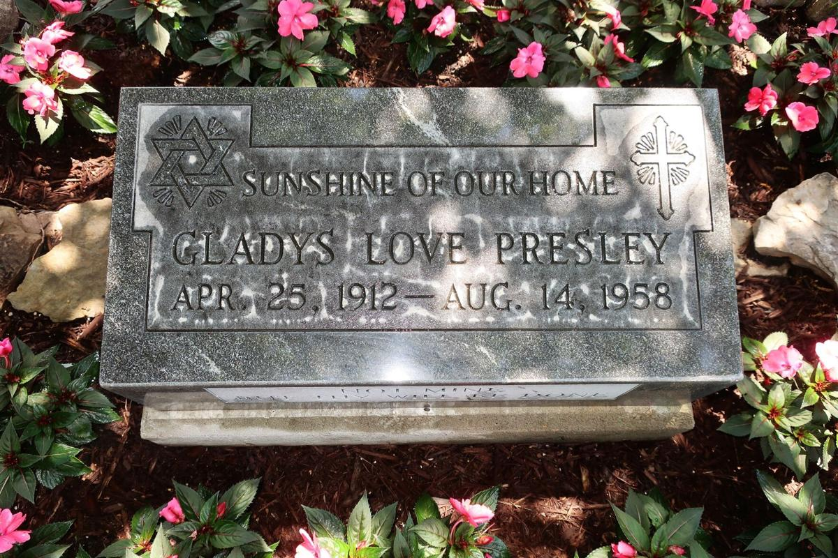 Gladys Presley's grave marker
