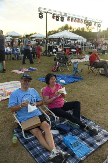 <p>Alan and Randi Jablin enjoy the food and great fall weather at the Ina Levine Jewish Community Campus.</p>