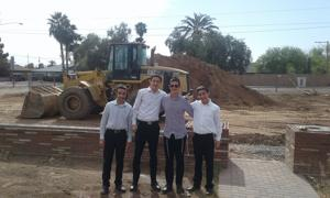 Construction gains ground