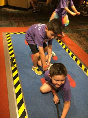 <p>Two boys enjoy a field trip to the Arizona Science Center, as the first week of summer camp began at the East Valley JCC. Campers also went ice skating at Ice Den Chandler and had this summer's first lock-in overnight experience.</p>