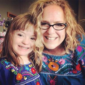 Journalist Amy Silverman and her daughter Sophie.