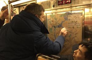 Subway graffitti