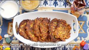 Jewish Light - Sweet Potato and Zucchini Latkes
