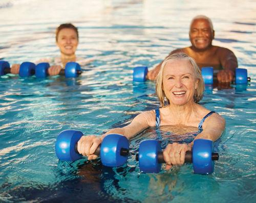 <p>Swimming and water exercise are two good ways for seniors to stay fit, especially for those with joint discomfort.</p><p></p><p>Photo courtesy of VOSJCC</p>