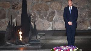Prince William lays wreath at Yad Vashem, honoring his great-grandmother