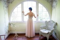 <p>Melinda Michel of Baltimore is pictured in the dress she wore to her second wedding.</p>