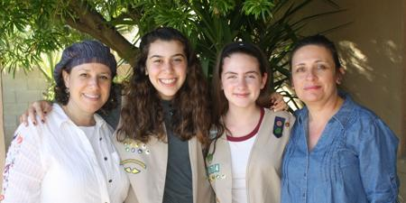 <p>From left: Halle Farber, Risa Farber, Eliana Sarfati and Fanny Sarfati. Halle Farber started the all-Jewish Girl Scout Troop 1674 so her daughter and her friends could stay together.</p>