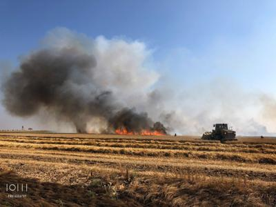 <p>Crops on fire in Gaza are damaging residents economically and emotionally.</p>