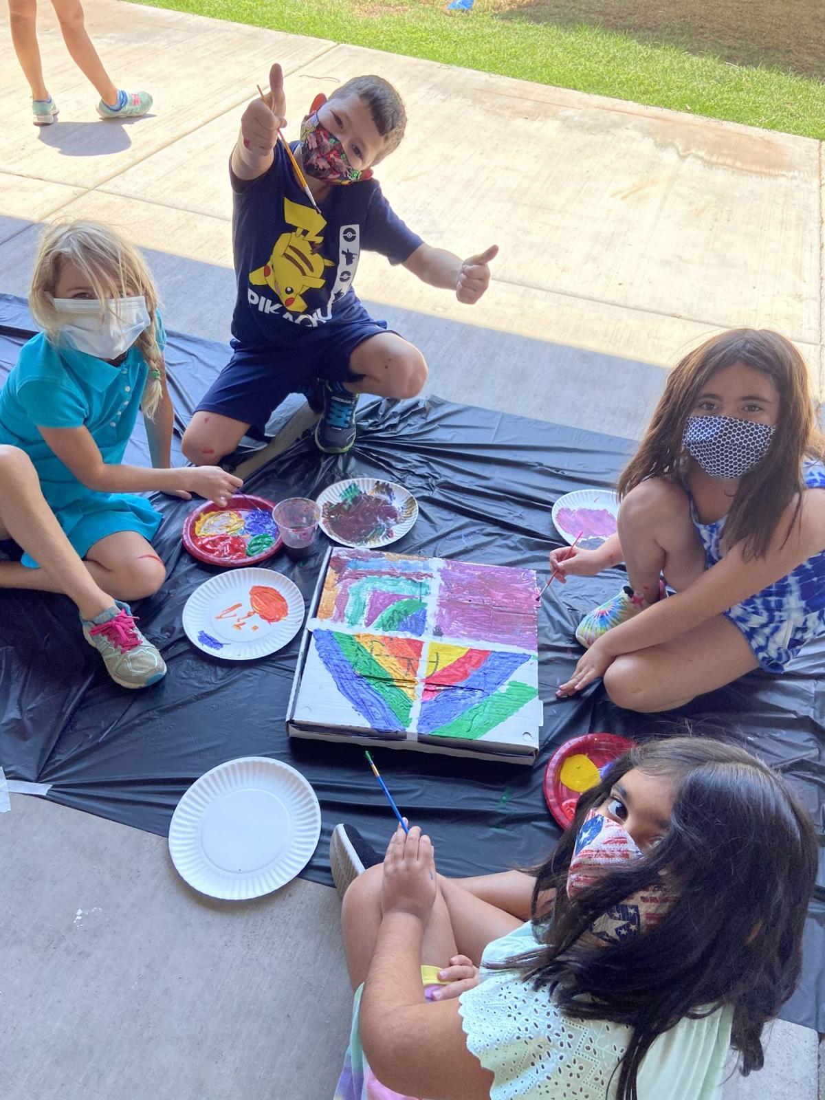 Campers in masks 1