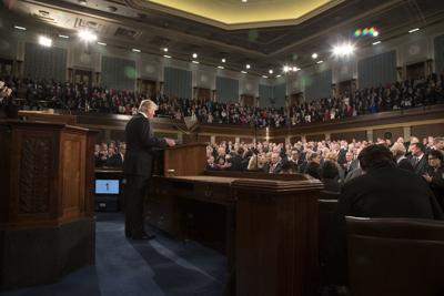 President Donald Trump delivers the Address to Congress