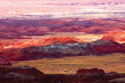"<p><span>""A Painted Desert""by Kit Cossak is one of the photographs in her exhibit at Temple Solel.               </span></p><p><span><em> </em></span></p>"