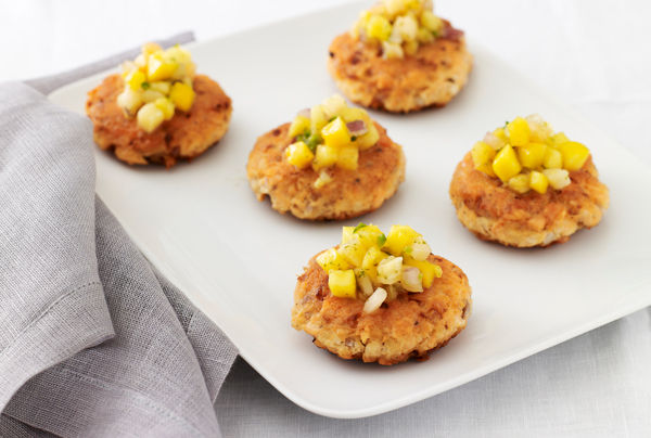 Salmon Cakes with Tropical Fruit Salsa