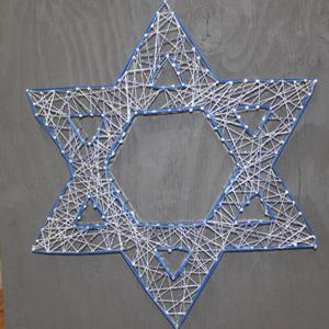 Star of David string art