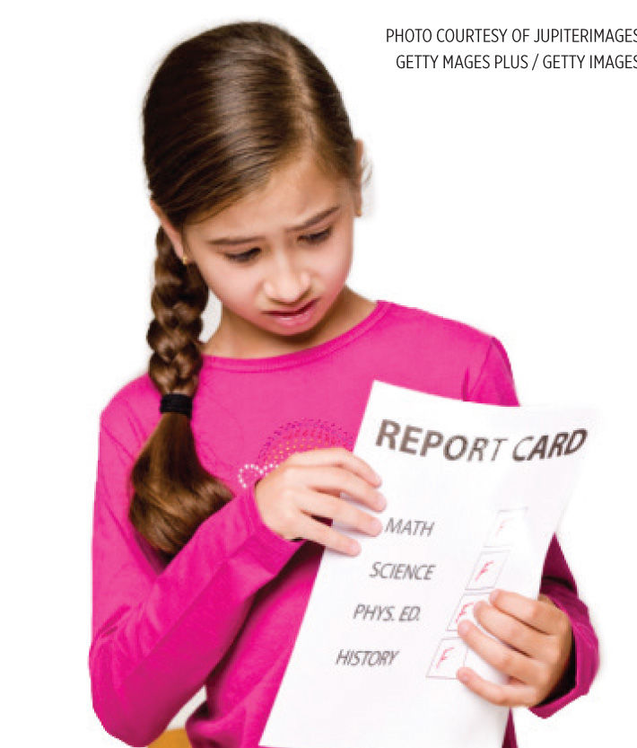 What do I do if my child gets a bad grade?