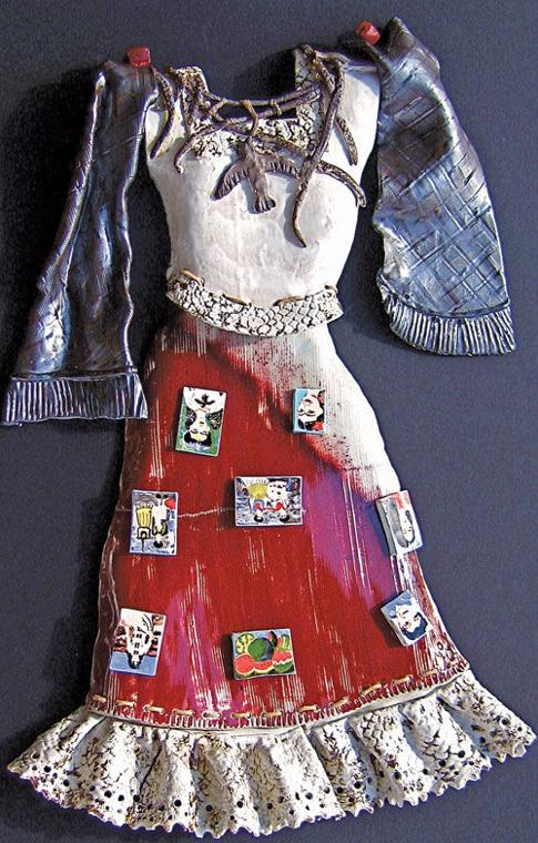 Ceramic costume Frida Kahlo