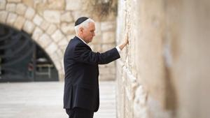 Pence concludes Israel trip with 'inspiring' Western Wall visit