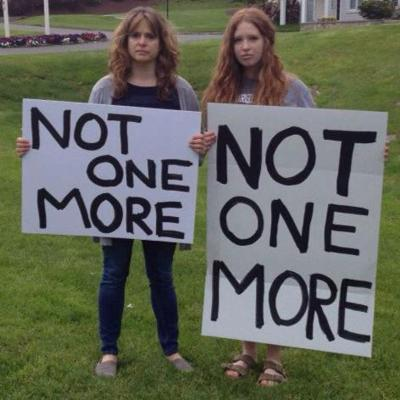 <p>Sarah Clements, right, accompanied by her mother, Abbey Clements, a second-grade teacher who survived the Sandy Hook Elementary School shooting in December 2012.</p>