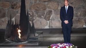 Prince William lays wreath at Yad Vashem
