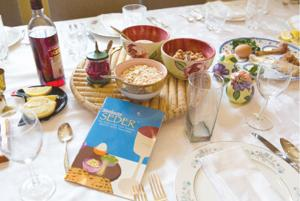 Setting a stylish yet traditional Passover table