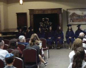 Graduation day: girls