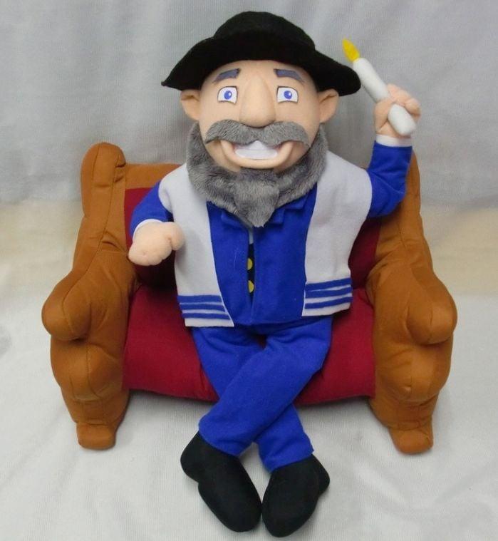Elf Toy Meets Its Jewish Match Mensch On A Bench Www