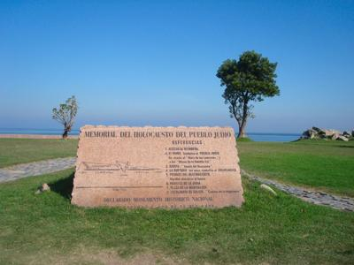 <p>The Holocaust memorial in Montevideo, Uruguay, was vandalized twice in one week.</p>