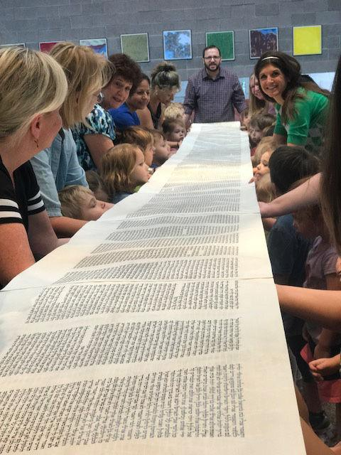 Children learn about Simchat Torah