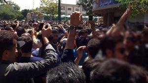 Iranians take to the streets amid currency collapse, some shouting 'death to Palestine'