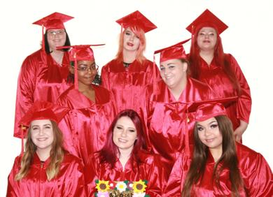 <p>These young women are among the 19 graduates — the largest class to date — of the JFCS Real World Job Development program for current and former foster care youth. During the July 12 event, the graduates received their secondary and post-secondary program diplomas.</p>