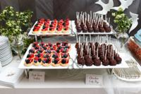 <p>Miniature desserts like these fruit tartlets and cake pops have become popular.</p>