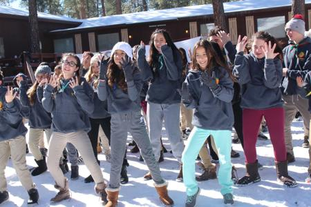 <p>About 70 members of the Valley's Shevet Shemesh chapter frolic in the snow in Prescott as part of the group's annual winter camp.</p>