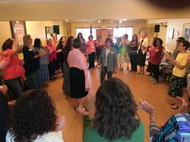 """<p class=""""p1"""">WRJ Southwest Area Day attendees join in song and dance Saturday morning.<span class=""""Apple-converted-space""""></span></p>"""