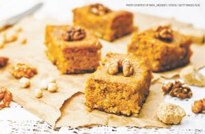 Indian spice blondies