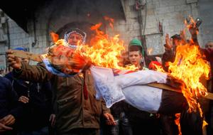 Hamas calls for intifada, Palestinians riot in response to Jerusalem recognition