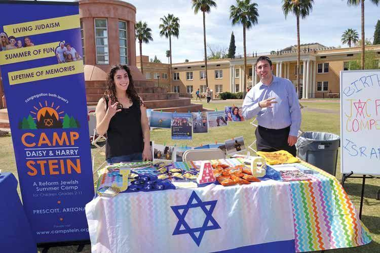The JAC booth during Israel Day