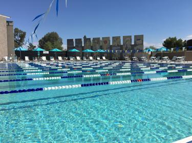 <p>The new lap pool at the Valley of the Sun JCC is seen in an early morning shot.</p>