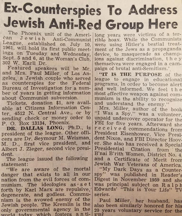 Flashback: Aug. 18, 1961