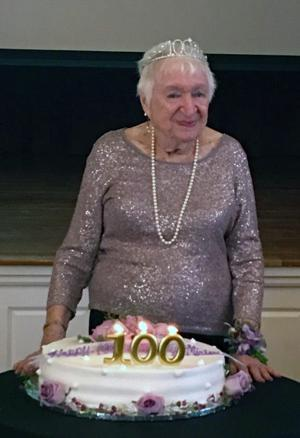 Birthday girl at 100
