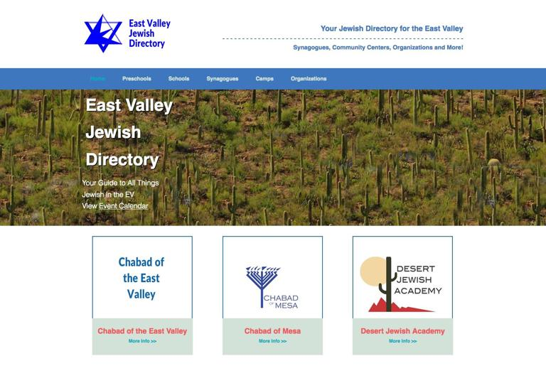 New website launched for  East Valley Jews