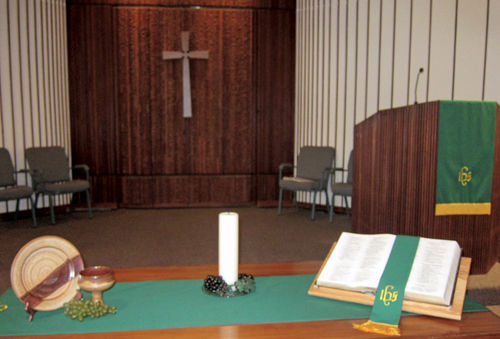 Sanctuary at Palo Cristi Presbyterian Church