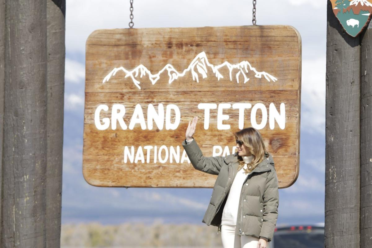 First Lady Melania Trump in Jackson Hole