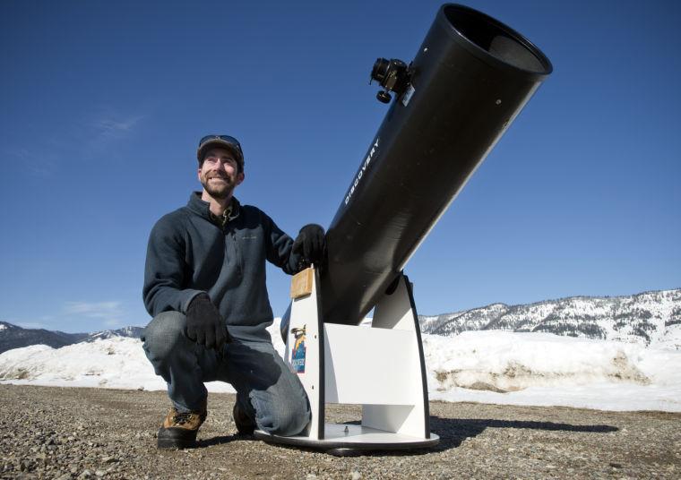 Sam Singer and his telescope