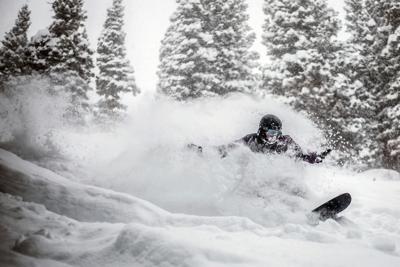 Storm skiing
