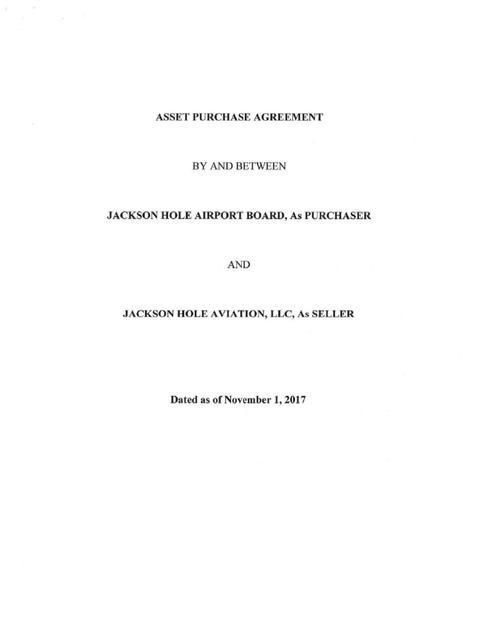 Asset Purchase Agreement Jhnewsandguide