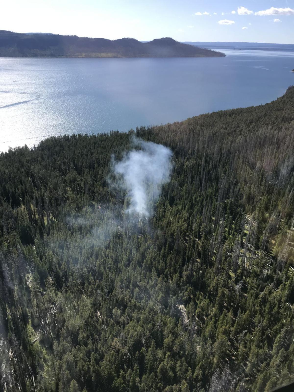 Brimstone Fire in Yellowstone